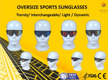 Oversize sports sunglasses